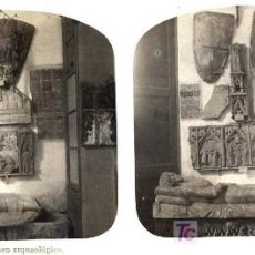 Fotografía antigua: TARRAGONA MUSEO ARQUEOLOGICO ESTEREO. POSITIVA 8 X 17 CM:. Lote 27371842