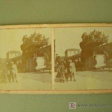 Fotografía antigua: CARROZAS EN CARNAVAL. Lote 26064826