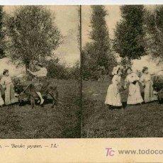 Fotografía antigua: FOTOGRAFIA ESTEREOSCOPICA CARTULINA DE 9X14 ESCENAS DE GENTE Nº4. Lote 4662197