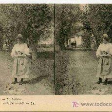 Fotografía antigua: FOTOGRAFIA ESTEREOSCOPICA CARTULINA DE 9X14 ESCENAS DE GENTE Nº 9. Lote 4662203