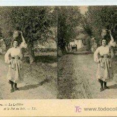 Fotografía antigua: FOTOGRAFIA ESTEREOSCOPICA CARTULINA DE 9X14 ESCENAS DE GENTE Nº 10. Lote 4662204