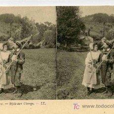 Fotografía antigua: FOTOGRAFIA ESTEREOSCOPICA CARTULINA DE 9X14 ESCENAS DE GENTE Nº13. Lote 4662209