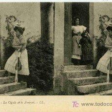 Fotografía antigua: FOTOGRAFIA ESTEREOSCOPICA CARTULINA DE 9X14 ESCENAS DE GENTE Nº17. Lote 4662215