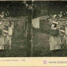 Fotografía antigua: FOTOGRAFIA ESTEREOSCOPICA CARTULINA DE 9X14 ESCENAS DE GENTE Nº 19. Lote 4662216