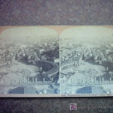 Fotografía antigua: 11275 PANORAMA FROM DOME OF ST. PETER´S. ROME. ITALY.. Lote 19467940