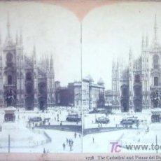 Fotografía antigua: 1738 THE CATHEDRAL AND PIAZZA DEL DUOMO. MILAN ITALY. Lote 27192830