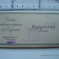 Fotografía antigua: PUIGCERDA (GERONA) - COLECCION Nº 73 - RELLEV - COMPLETA CON 15 VISTAS. Lote 27185383