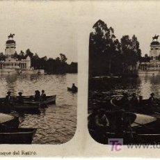 Old photograph - Madrid. Estanque del Retiro. - 25765551
