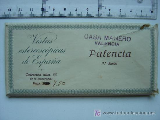 PALENCIA - COLECCION Nº 58 - RELLEV - COMPLETA CON 15 VISTAS (Fotografía Antigua - Estereoscópicas)