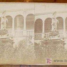 Fotografia antiga: ANTIGUA FOTOGRAFIA ESTEREOSCOPICA DE BARCELONA - PATIO DEL HOSPITAL DE CONVALECENCIA - MEDIADOS SIGL. Lote 7237603
