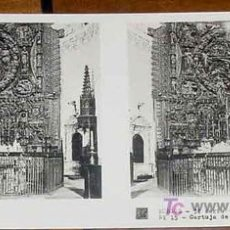 Fotografía antigua: ANTIGUA ESTEREOSCOPIA DE BURGOS - 3ª SERIE - COLECCION N. 63 - ED. RELLEY - CARTUJA DE MIRAFLORES - . Lote 7358322