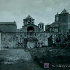 Fotografía antigua: MONASTERIO DE POBLET. TARRAGONA. LOTE DE 4 PLACAS DE CRISTAL. 1915'S APROX.. Lote 15602555