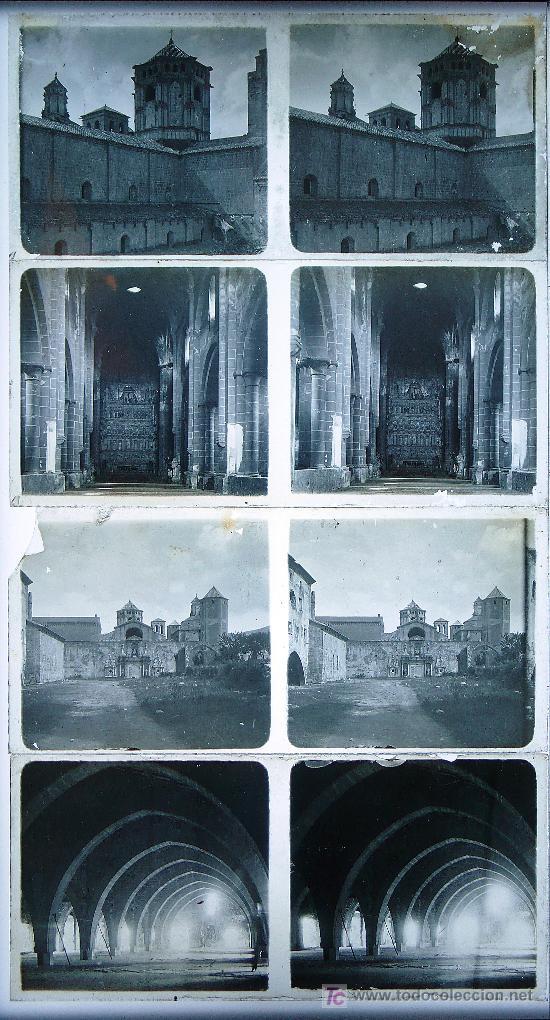 Fotografía antigua: Monasterio de Poblet. TARRAGONA. lote de 4 placas de cristal. 1915's aprox. - Foto 2 - 15602555