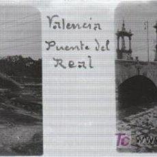 Fotografía antigua: FOTOGRAFIA ESTEREOSCOPICA TAMAÑO 105X45 VALENCIA, PUENTE DEL REAL. Lote 7515018
