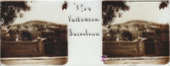 FOTOGRAFIA ESTEREOSCOPICA TAMAÑO 105X45 BARCELONA VALLCARCA AÑO 1904 (Fotografía Antigua - Estereoscópicas)
