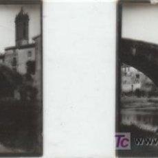 Fotografía antigua: FOTOGRAFIA ESTEREOSCOPICA TAMAÑO 105X45 PUENTE ROMANICO. Lote 7518971