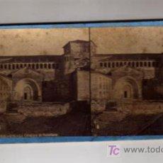 Fotografía antigua: SANTANDER. LA COLEGIATA DE SANTILLANA. VISTA ESTEREOSCÓPICA. (J. LAURENT).. Lote 8111324