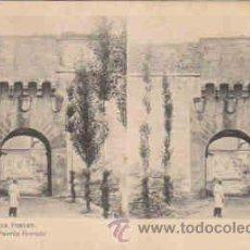 Fotografía antigua: TARJETA ESTEREOSCOPICA Nº3, MONASTERIO DE POBLET, PUERTA DORADA. Lote 8386121