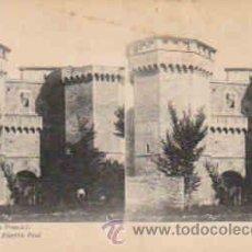 Fotografía antigua: TARJETA ESTEREOSCOPICA Nº6, MONASTERIO DE POBLET, PUERTA REAL. Lote 8386149