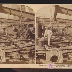 """Fotografía antigua: FOTOGRAFIA ESTEREOSCOPICA. GUERRA DE CUBA. RESTOS DEL BUQUE DE GUERRA ESPAÑOL """"VIZCAYA"""". 1899. NAUTI. Lote 22446920"""