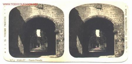 TARRAGONA-POBLET (Fotografía Antigua - Estereoscópicas)