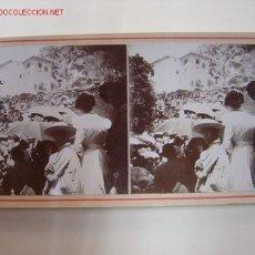 Fotografía antigua: AGRES (ALICANTE) - ROMERIA. PREDICANDO. Lote 26835541