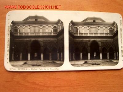 Nº 10 SEVILLA- ALCÁZAR DE LAS DONCELLAS (TURISMO PRACTICO) (Fotografía Antigua - Estereoscópicas)