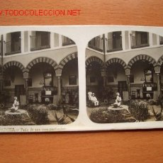 Fotografía antigua: Nº 13 CÓRDOBA - PATIO DE UNA CASA PARTICULAR ( EL TURISMO PRÁCTICO). Lote 24956347