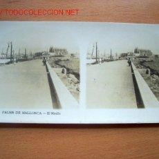 Fotografía antigua: Nº 1 PALMA DE MALLORCA - EL MUELLE. Lote 25888421