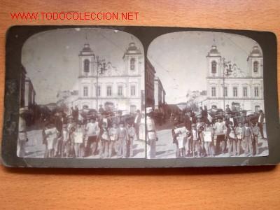CATEDRAL DE SAN PEDRO EN SAU PAULO AÑO 1918 (Fotografía Antigua - Estereoscópicas)