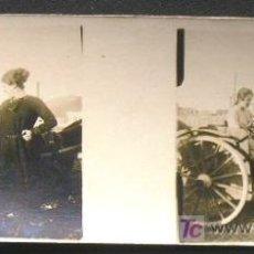 Fotografía antigua: SANTOÑA. CON CARROMATO. CIRCA 1920 - SANTANDER. Lote 15192059