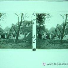 Fotografía antigua: BANYOLES (GERONA) - CRISTAL POSITIVO ESTEREOSCOPICO. Lote 27207180