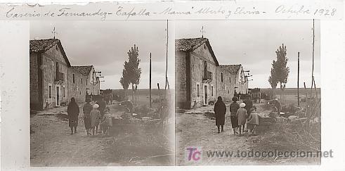TAFALLA (NAVARRA) - CASERIO DE FERNANDEZ - AÑO 1928 - CRISTAL POSITIVO (TAMAÑO GRANDE) (Fotografía Antigua - Estereoscópicas)