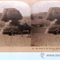 Fotografía antigua: 62 . THE HEAD OF THE FAMOUS SPHINX. EGYDT.. Lote 18431763