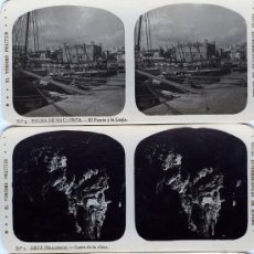 Fotografía antigua: VISTA ESTEROSCOPICA PALMA DE MALLORCA LOTE 12 BONITAS VISTAS. Lote 12248762