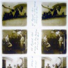 Fotografía antigua: ARENYS DE MAR. 15 AGOST 1931. 8 CRISTALES ESTEREO, 4 POSITIVOS+4 NEGATIVOS.. Lote 14042290