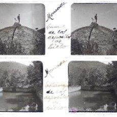 Fotografía antigua: MONTCADA, BARCELONA. ANTIGUOS DEPÓSITOS DE HIELO, AÑO 1920. 4 CRISTALES ESTEREO POSITIVOS 10,4X4,3. Lote 14985786
