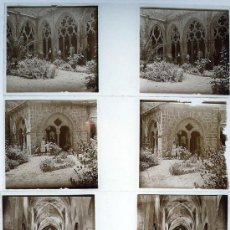 Fotografía antigua: SANTES CREUS, TARRAGONA. 1915'S APROX. 4 CRISTALES ESTEREO POSITIVOS 10,4X4,3 CM.. Lote 19941944