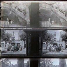 Fotografía antigua: SANTES CREUS, TARRAGONA. 1920'S. 10 CRISTALES NEGATIVOS ESTEREO 10,4X4,3 CM.. Lote 15602532