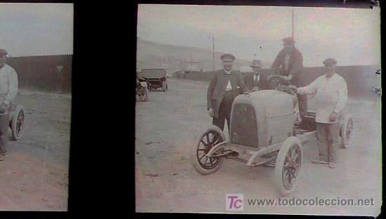 Fotografía antigua: BARCELONA PROBABLEMENTE - coches antiguos, 1920s. 2 cristales negativos estereo 10,4x4,3 cm. - Foto 4 - 14907988