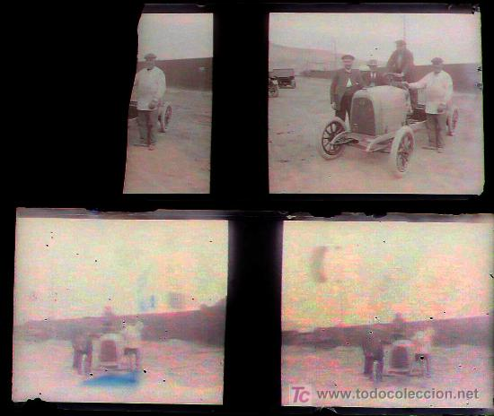 Fotografía antigua: BARCELONA PROBABLEMENTE - coches antiguos, 1920s. 2 cristales negativos estereo 10,4x4,3 cm. - Foto 2 - 14907988