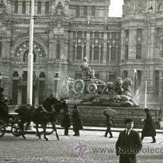 Fotografía antigua: FOTO ESTEREOSCOPICA CRISTAL 60X130 MADRID CIBELES Y CORREOS. Lote 13235884