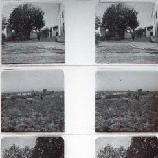 Fotografía antigua: CALDAS DE MALAVELLA, GIRONA. 1915'S APROX. 4 CRISTALES ESTEREO POSITIVOS, 10,4X4,3 CM.. Lote 13265112