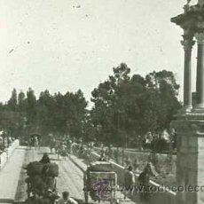 Fotografía antigua: FOTO ESTEREOSCOPICA CRISTAL 60X130 PUENTE VALENCIA. Lote 13275217