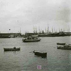Fotografía antigua: PUERTO DE BARCELONA. BARCAS Y TINGLADOS. CIRCA 1925. Lote 22090801