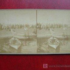 Fotografía antigua: BARCELONA - PUERTO, ESCALERAS DE LA PAZ. Lote 17609156