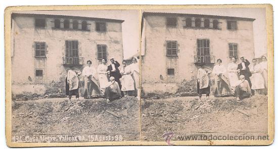 BARCELONA - VALLCARCA 1898 - 2 IMAGENES (Fotografía Antigua - Estereoscópicas)