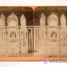 Fotografia antica: VISTA ESTEREOSCÓPICA. GRANADA. PATIO DE LOS LEONES. ALHAMBRA. (VUES D'ESPAGNE B. K., PARIS). Lote 18997423