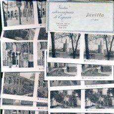 Fotografía antigua: VISTAS ESTEREOSCÓPICAS DE ESPAÑA • 15 VISTAS DE SEVILLA / COLECCIÓN Nº9. 1ª SERIE COMPLETA. RELLEV.. Lote 27138578