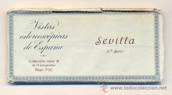 Fotografía antigua: VISTAS ESTEREOSCÓPICAS DE ESPAÑA • 15 VISTAS DE SEVILLA / COLECCIÓN Nº9. 1ª SERIE COMPLETA. RELLEV. - Foto 2 - 27138578